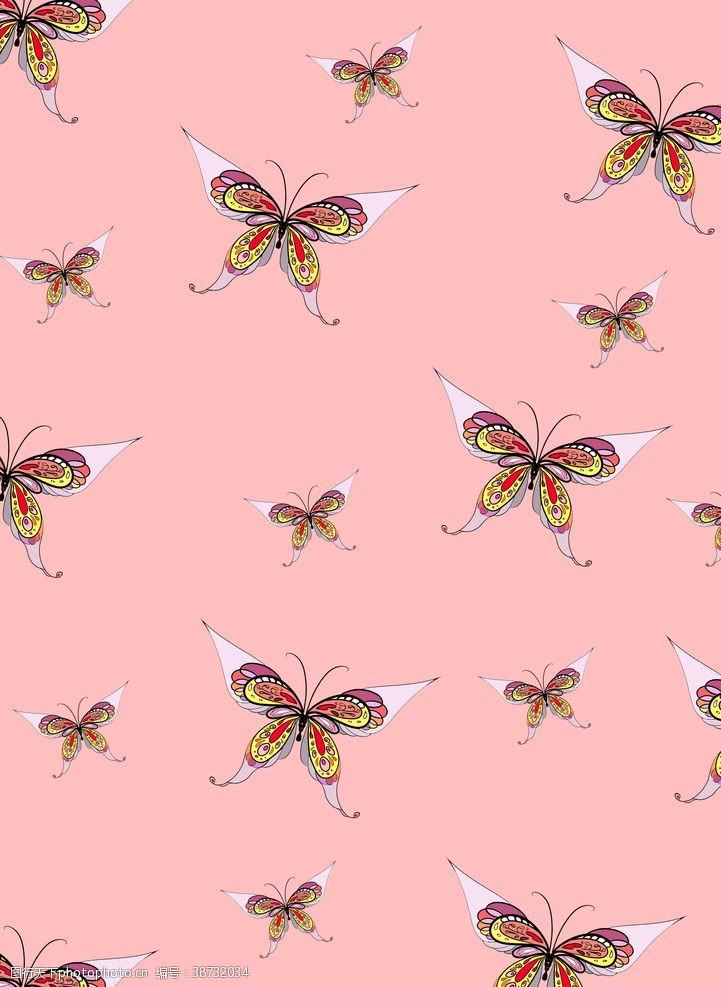 手绘壁纸蝴蝶