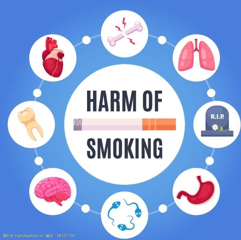 身体器官吸烟有害健康