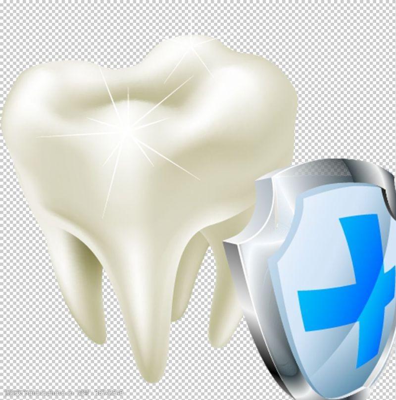 牙科诊所海报保护牙齿