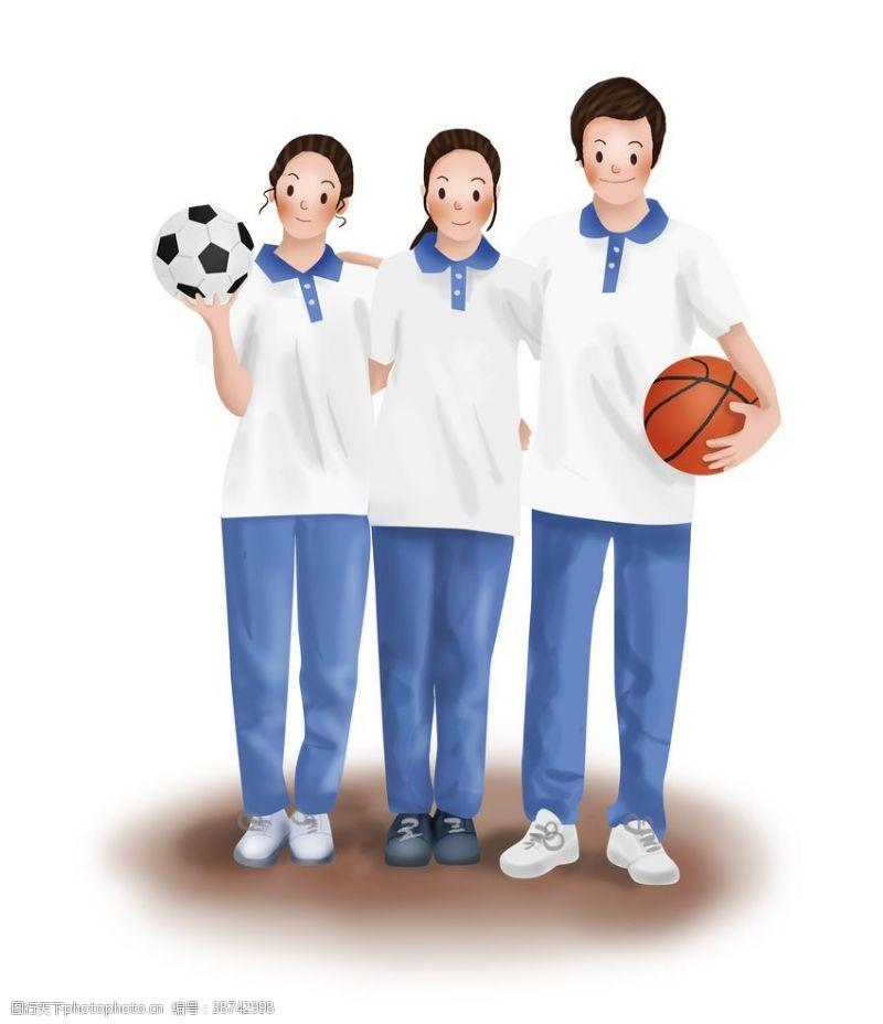 初中生暑假生活学生打球