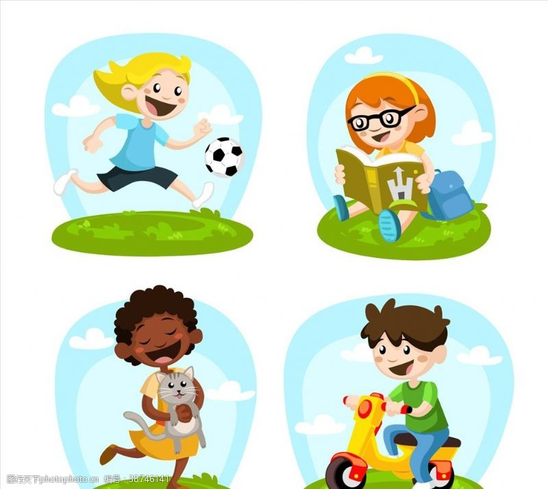 玩具游戏画报孩子们玩