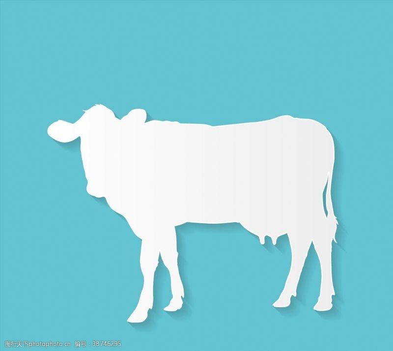 牛剪影广告