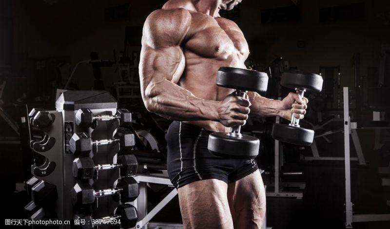 瘦身模特健身模特肌肉男