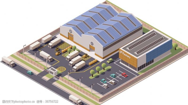 规划图企业工厂厂房