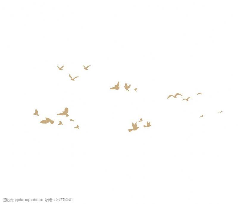 鸽子小鸟矢量剪影