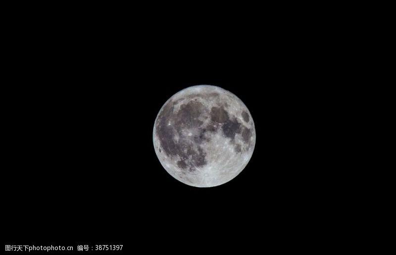 夜晚的天空月球天空