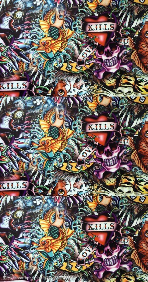服装素材鱼朋克条巾