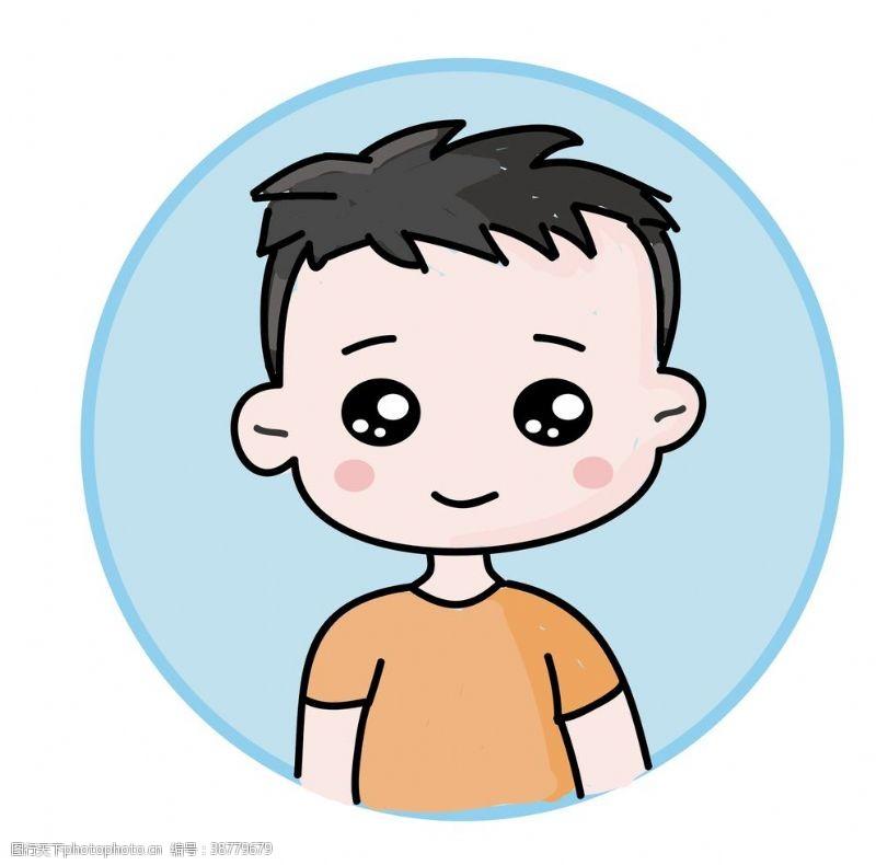 男孩卡通插画头像