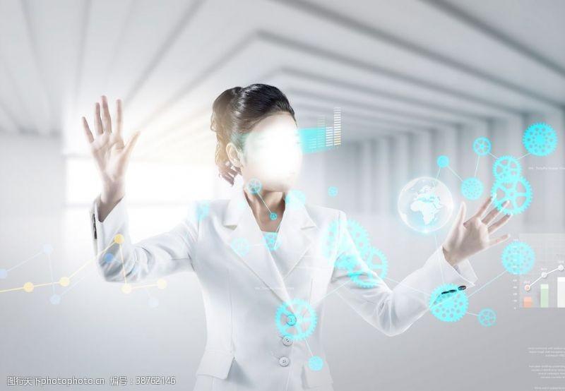 商务美女商务科技