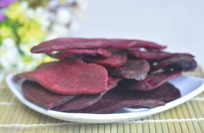 花朵紫薯片