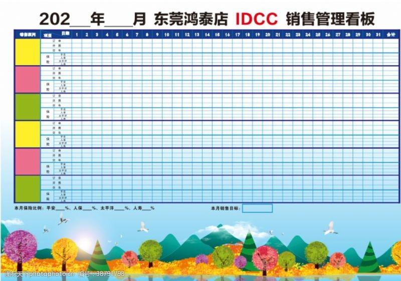 DCC个人业绩月看板