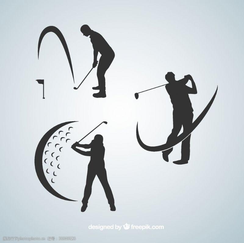 高尔夫挥杆海报
