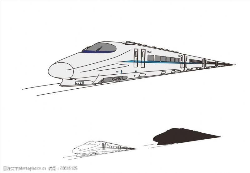 矢量图 高铁机车图片