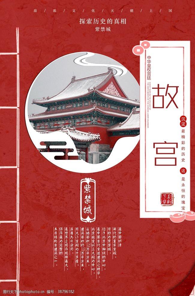 天安门故宫旅游海报