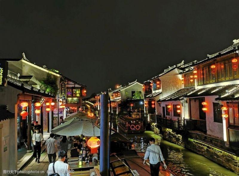 江南水乡 苏州山塘街江南图片