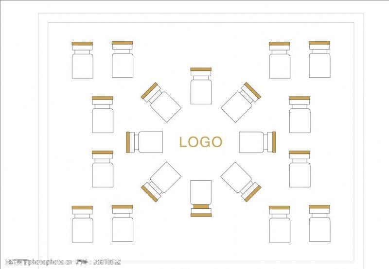 包装盒效果图 冻干粉套盒设计平面图图片