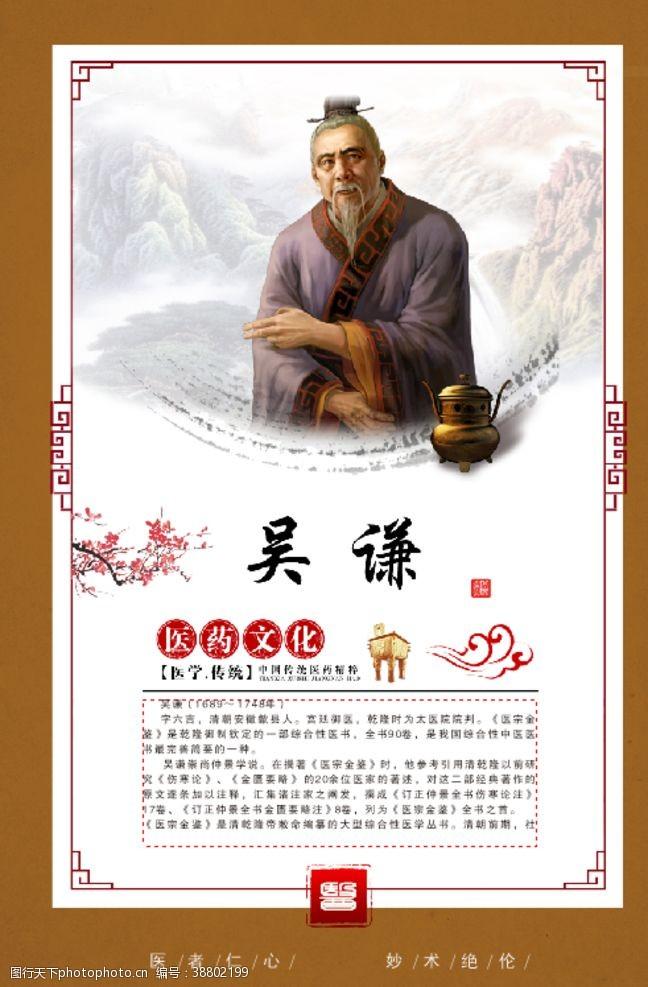 方框古代名医吴谦简介