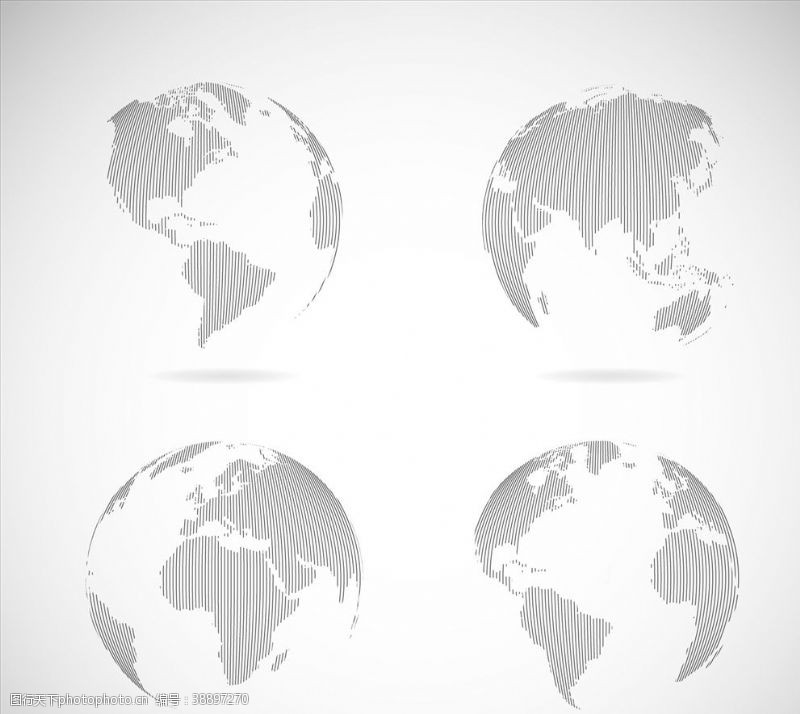 世界各地灰色地球地球仪