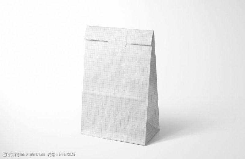 牛皮纸样机 午餐纸袋样机集图片
