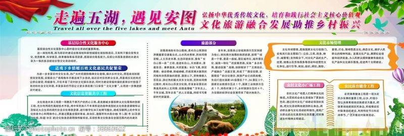 农村旅游安图展板