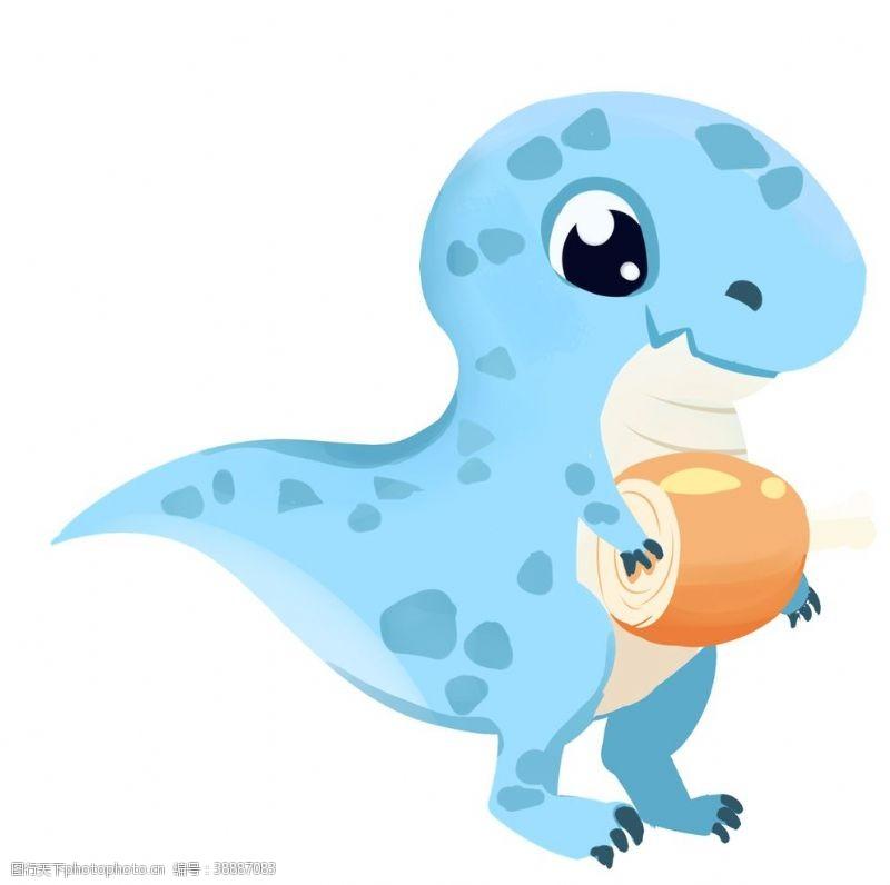 t恤图案设计卡通恐龙