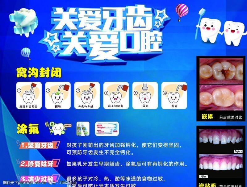 儿童牙齿牙科诊所海报