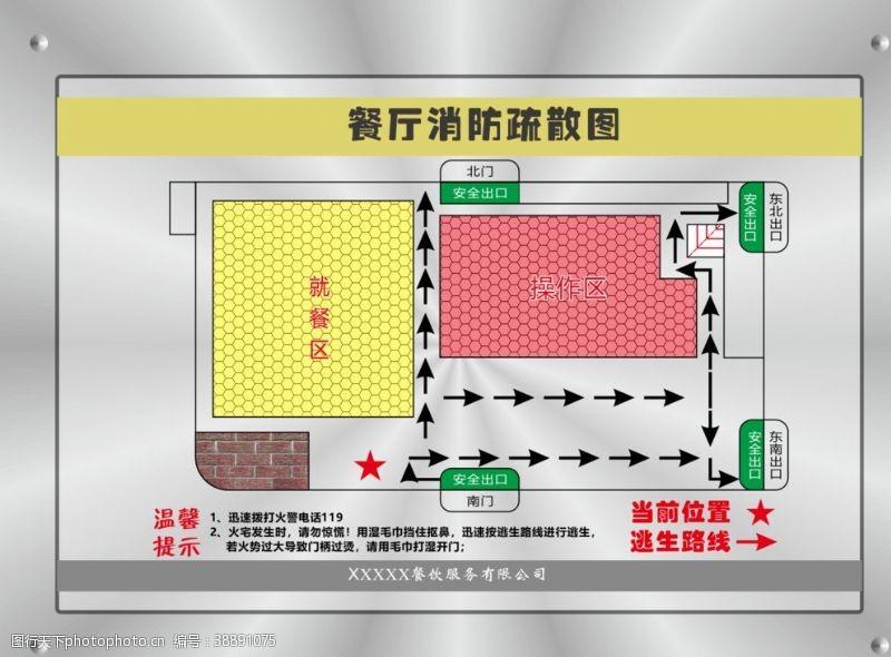 餐厅消防疏散图
