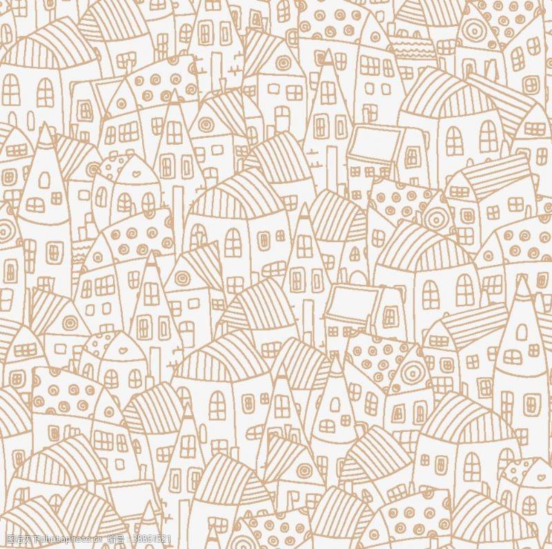 建筑家居房屋线条图