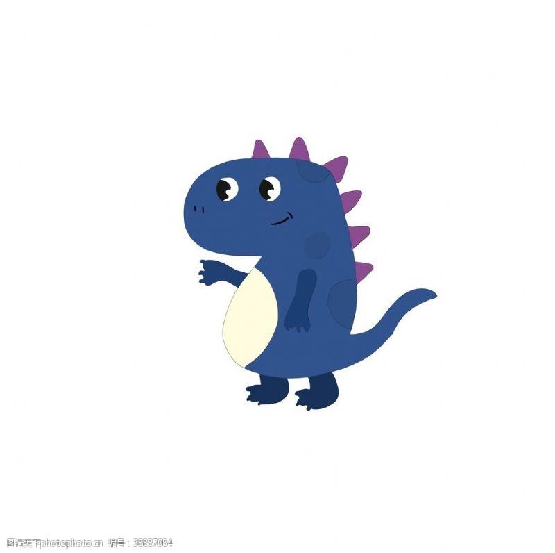 t恤图案设计卡通小恐龙