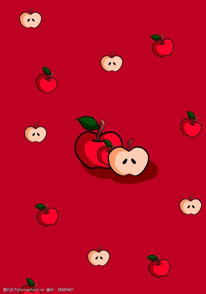 手绘壁纸苹果