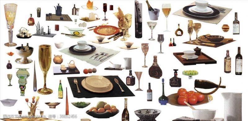 西餐餐具餐具素材