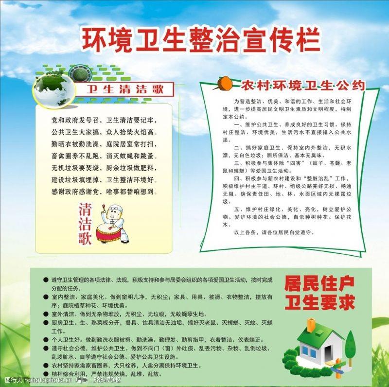 社会保护环境卫生宣传栏