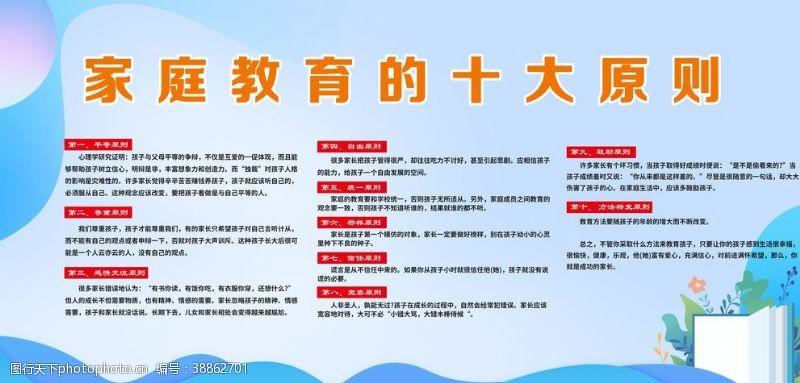 学校展板模板家庭教育十大原则