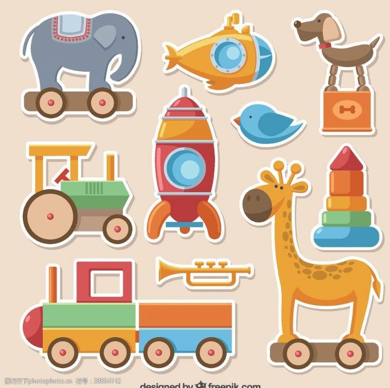 玩具游戏色彩鲜艳玩具收藏