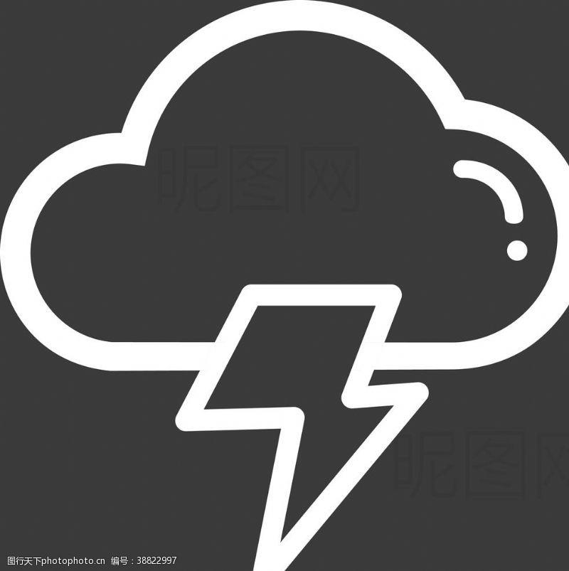 雷雨 闪电图片