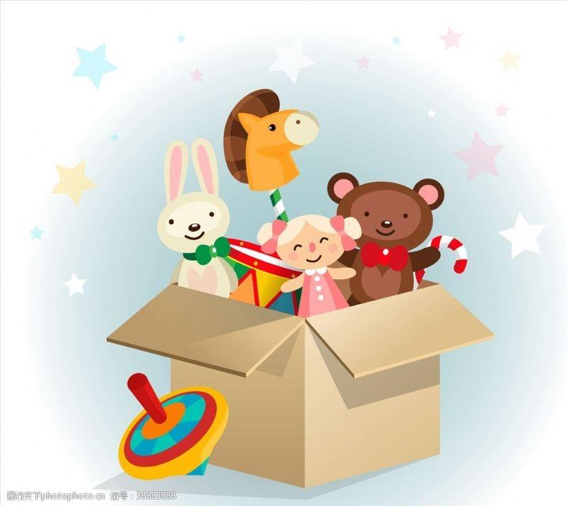 玩具游戏玩具箱