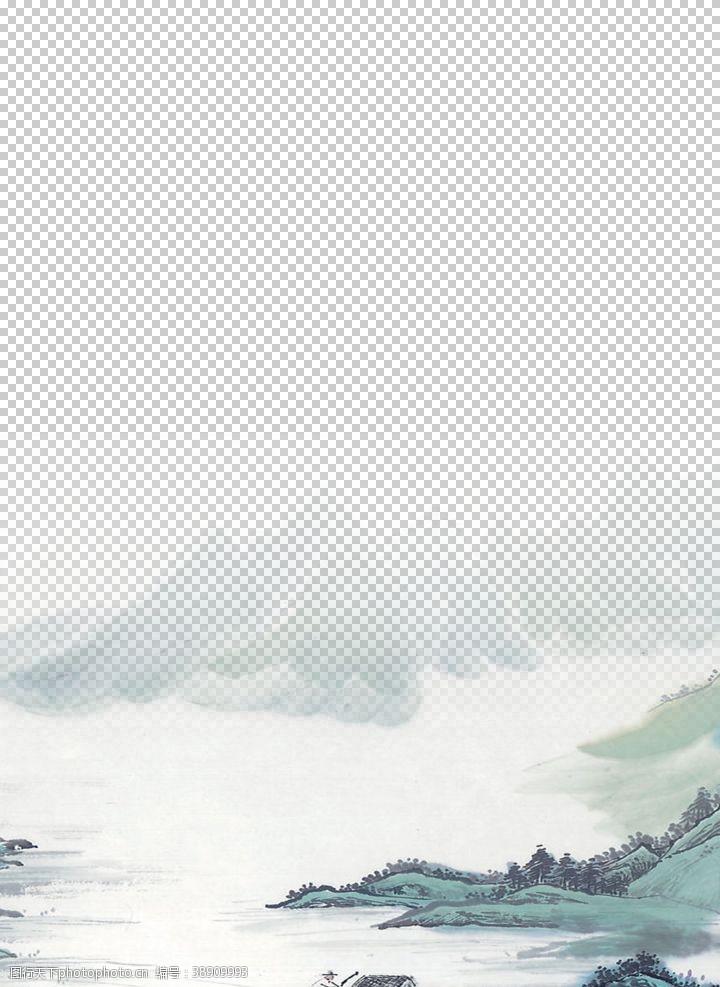 中国风展板古风山水