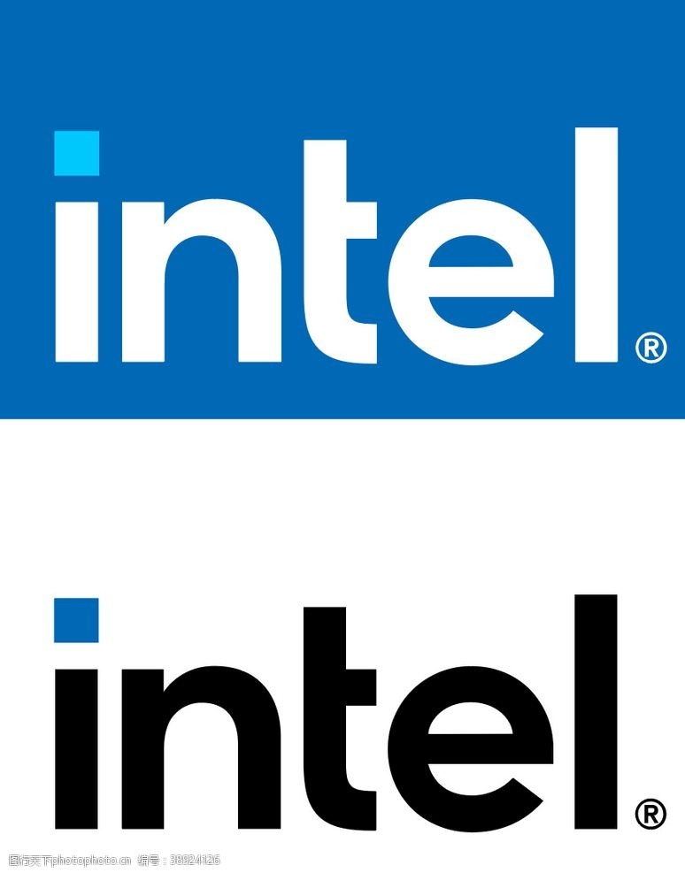 企业logo标志 intel-logo英特尔图片