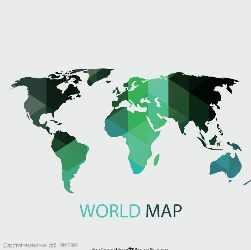 几何世界地图