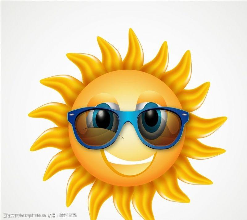 太阳眼镜卡通太阳太阳镜