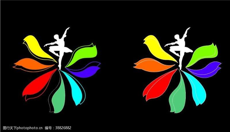 形体七色花