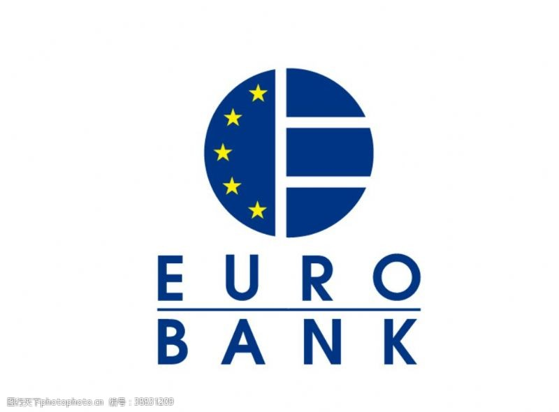 bank希腊欧元银行标志LOGO