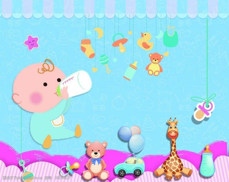 高钙奶婴幼儿产品海报