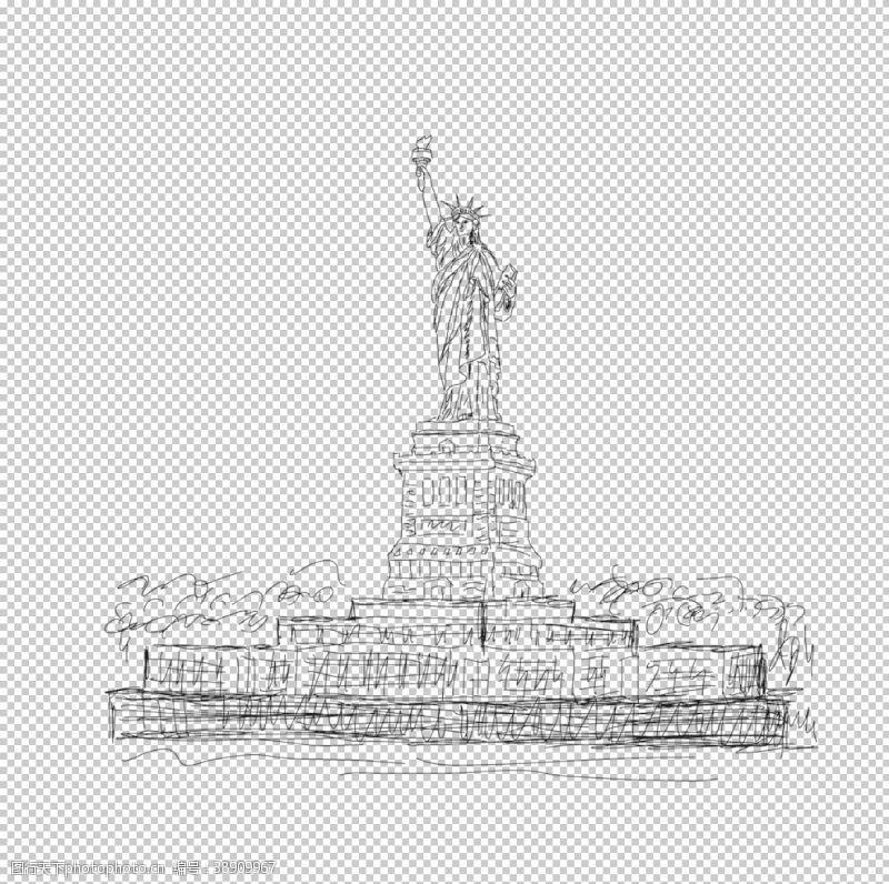 高楼自由女神像