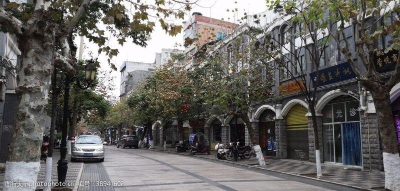 房屋古典建筑 城市古镇街道风景图片
