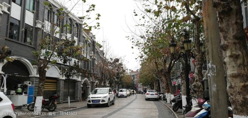 房屋古典建筑 古城街道风景图片