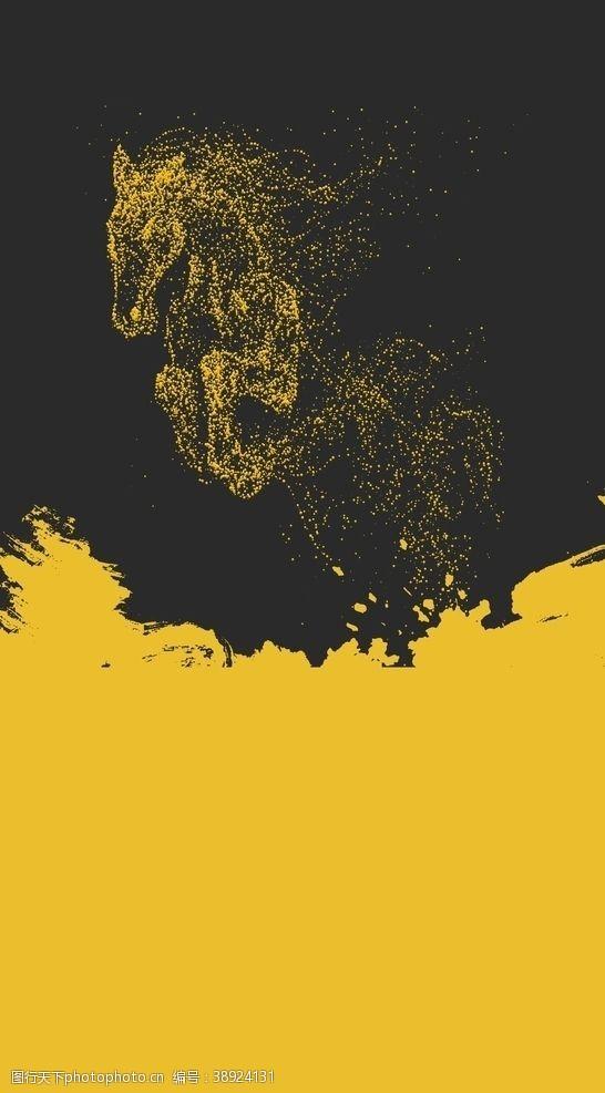 黄色底图 海报底图图片