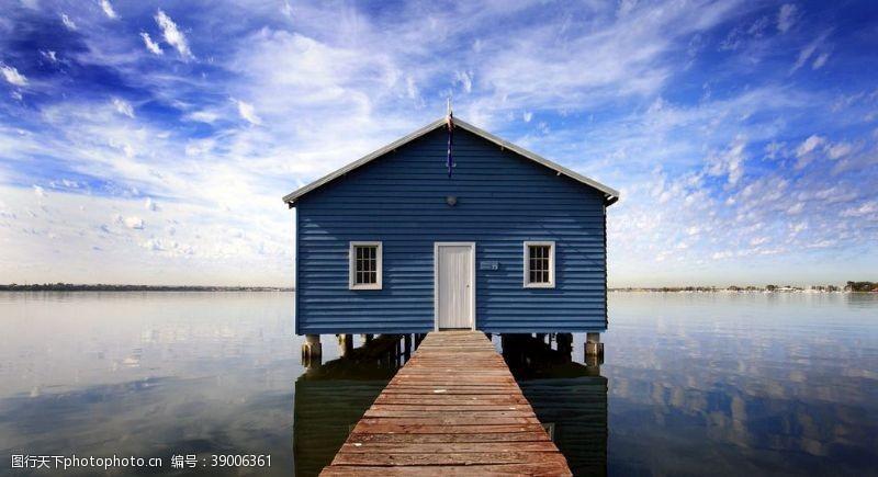 景观规划 湖岸美景图片