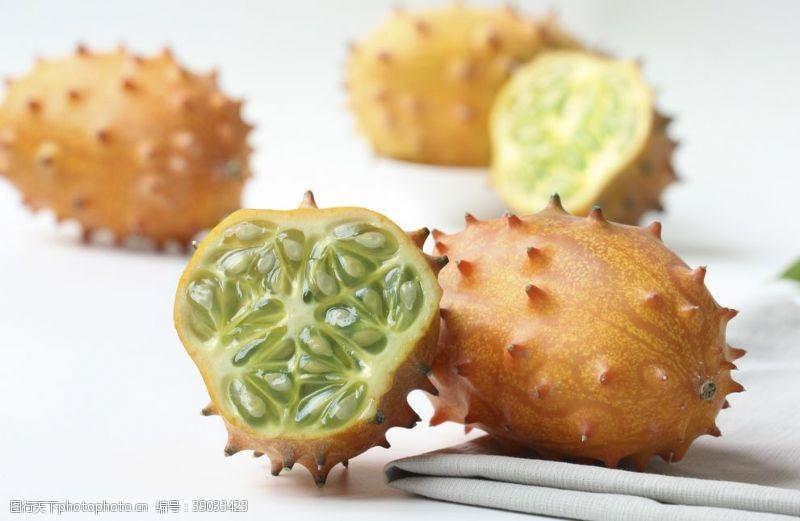 传统美食 火参果刺角瓜图片