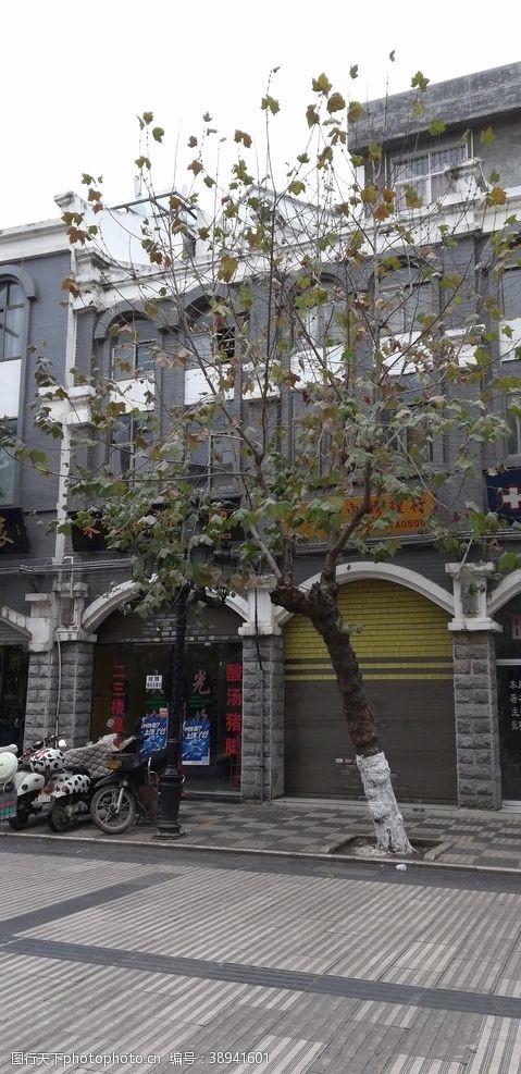 房屋古典建筑 街道古建筑风景图片